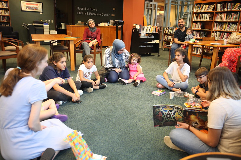 Story time in the library